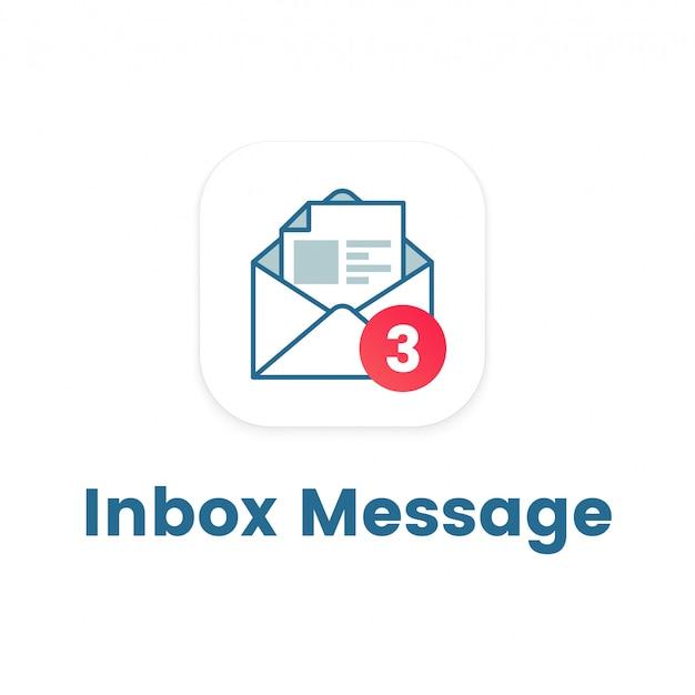 Icono de notificación en carta abierta