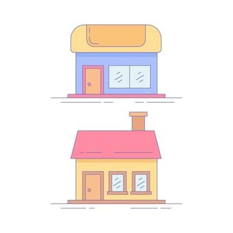 Icono o logotipo de home market line