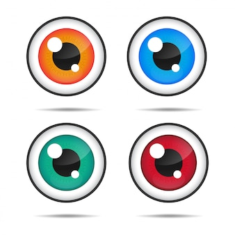 Icono de ojos ojos azules con hermosos ojos brillantes.