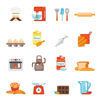 Icono de panadería plana