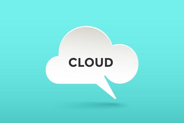 Icono de papel blanco nube hablar