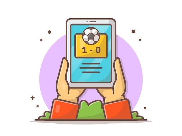 Icono de partido de fútbol en línea
