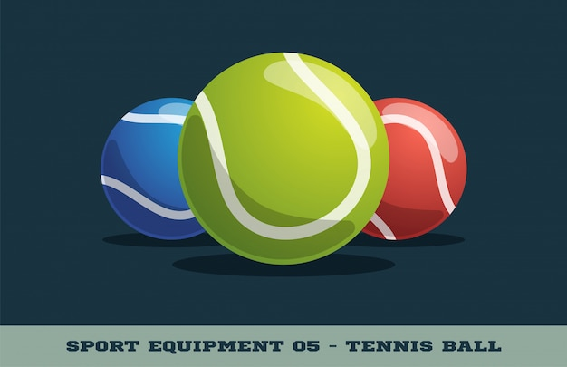 Icono de pelota de tenis. equipo de deporte.