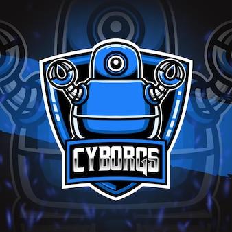 Icono de personaje del logotipo de cyborg esport