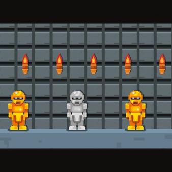 Icono pixelado y videojuego