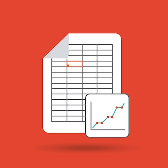 Icono plano de formato de documento