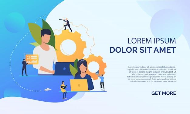 Icono plano de líderes de proyecto