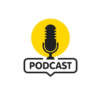 Icono plano de podcast