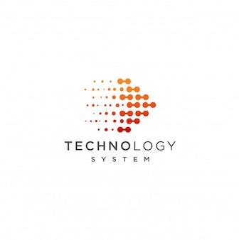 Icono de plantilla de logotipo de tecnología abstracta