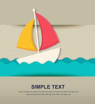 Icono de playa de papel
