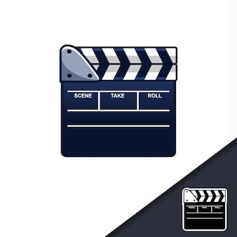 Icono de producción de clapper fim cynema