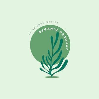 Icono de producto natural y orgánico.