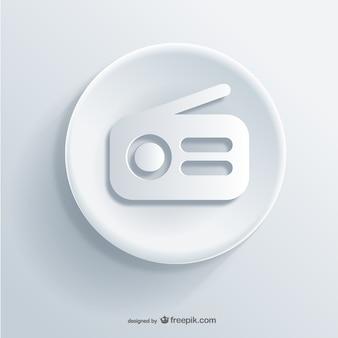 Icono de radio en relieve