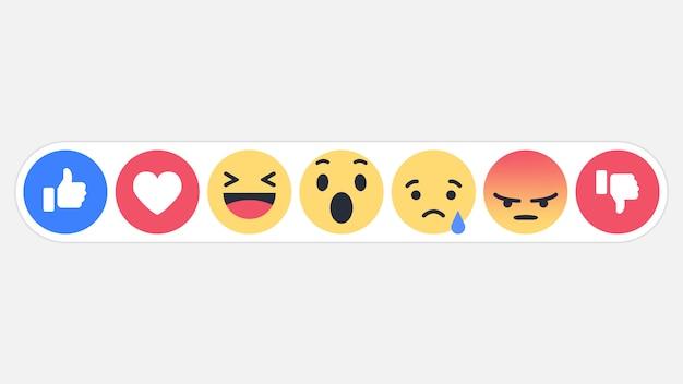 Icono de reacciones de la red social emoji.