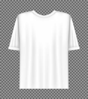 Icono realista de plantilla de camiseta blanca en blanco