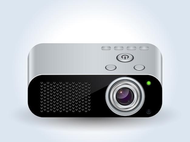 Icono realista de proyector multimedia