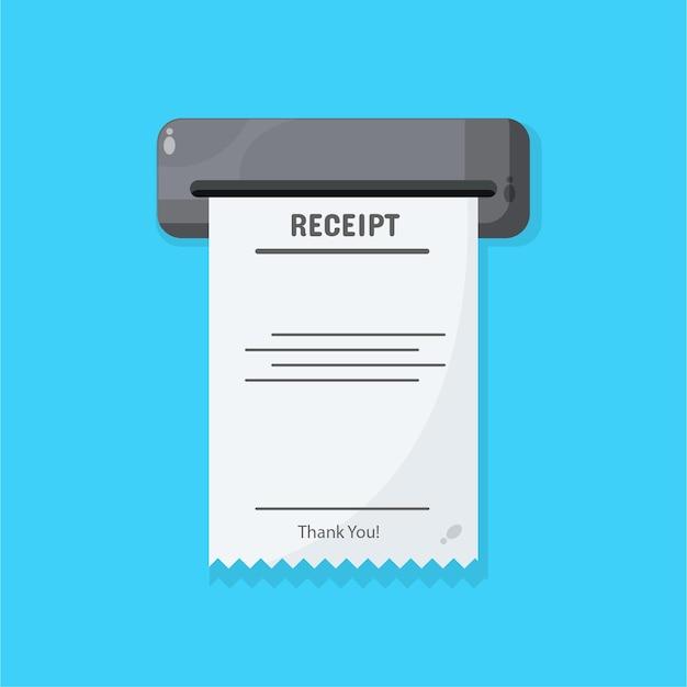 Icono de recibo impreso de ventas
