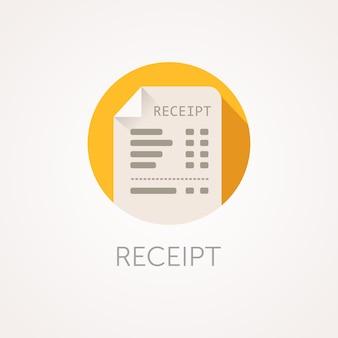 Icono de recibo de vector