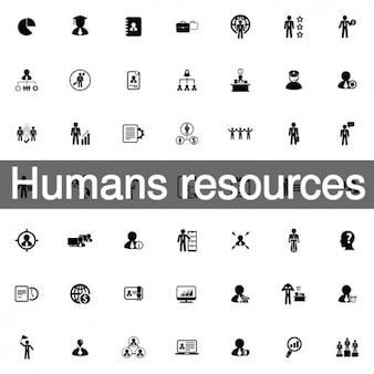 Icono de los recursos humanos conjunto