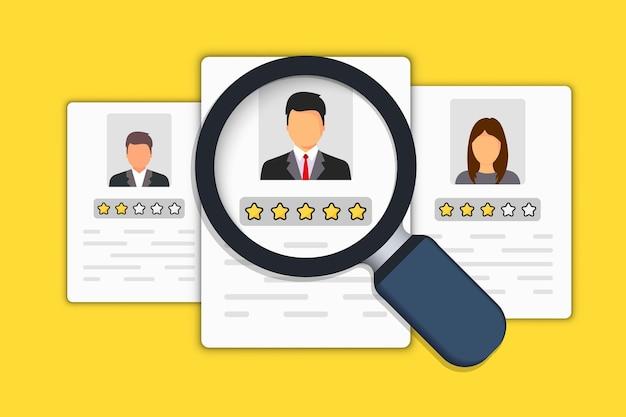 Icono de recursos humanos. icono de contratación. búsqueda de empleo y recursos humanos, concepto de contratación. estamos contratando y el concepto de reclutamiento para la página web, banner, presentación.
