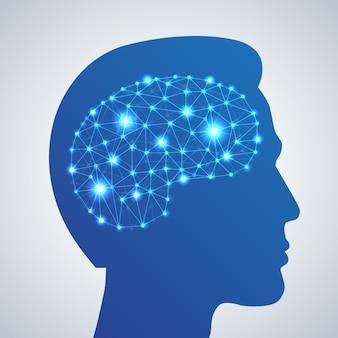 Icono de red cerebral