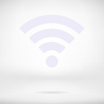Icono de red inalámbrica wi-fi en el interior