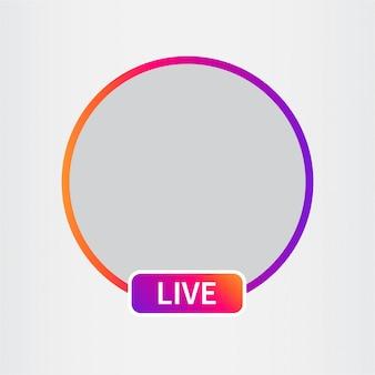 Icono de redes sociales avatar. transmisión de video en vivo.