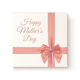 Icono de regalo vintage realista. tarjeta de felicitación para el día de la madre.