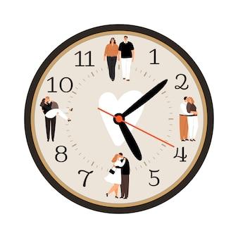 Icono de reloj de amor