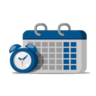 Icono de reloj calendario