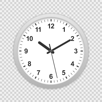 Icono de reloj de oficina de pared.