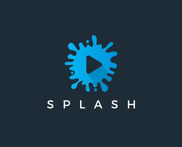 Icono de reproducción como plantilla de logotipo de botón de reproducción de video