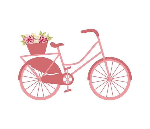 Icono retro del vehículo de la bicicleta