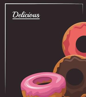 Icono de rosquillas dulces