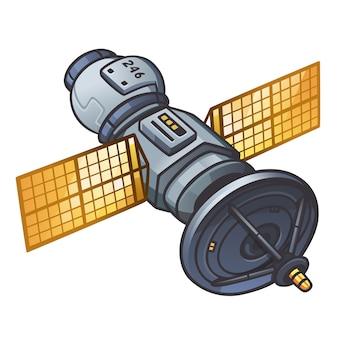Icono de satélite para juego espacial