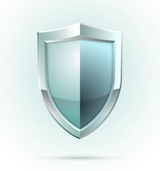 Icono de seguridad de escudo en blanco