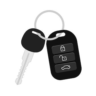Icono de seguridad de llave de coche.