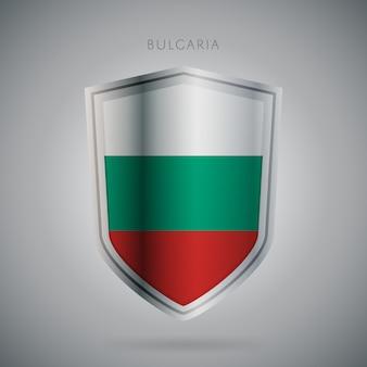 Icono de la serie de banderas de europa bulgaria