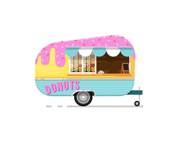 Icono de servicio de cafetería al aire libre donuts