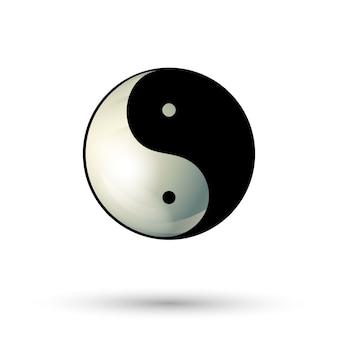 Icono de símbolo de yinyang