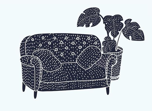 Icono de sofá