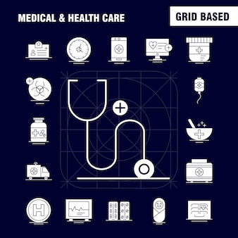 Icono sólido de atención médica y sanitaria