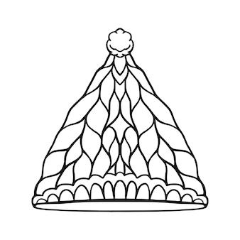 Icono de sombrero de invierno.