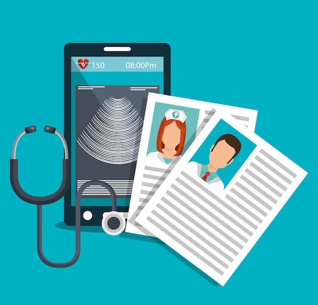 Icono de tecnología médica de salud