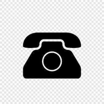 Icono de teléfono antiguo. símbolo retro vintage