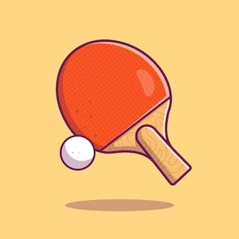Icono de tenis de mesa. pelota de raqueta y ping pong, deporte icono aislado