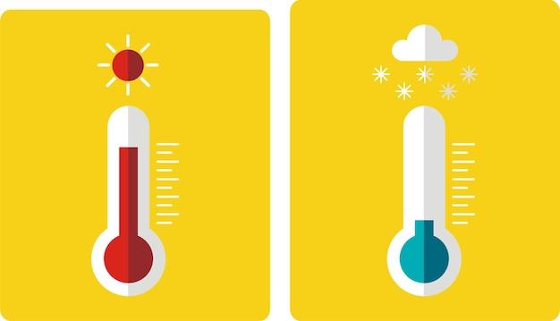 Icono de termómetro, estilo de diseño plano