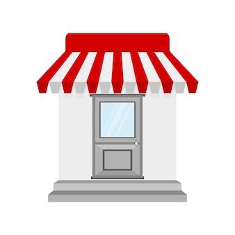 Icono de tienda o tienda en diseño plano
