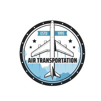 Icono de transporte aéreo de avión o avión