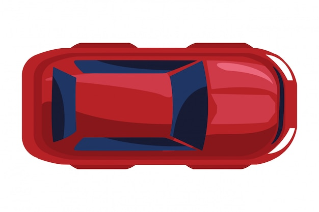 Icono de transporte de vehículo automóvil cartoon